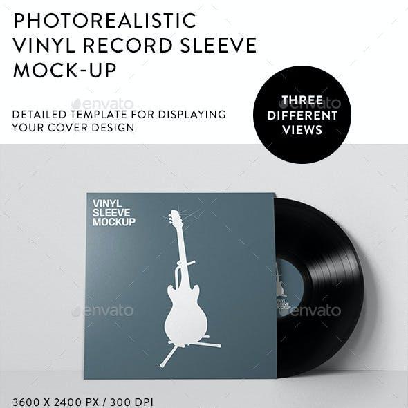 Vinyl Record Sleeve Mockup