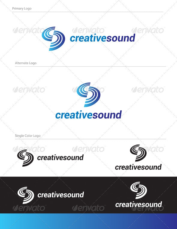 Creative Sound Logo Design - ABS-011 - Abstract Logo Templates