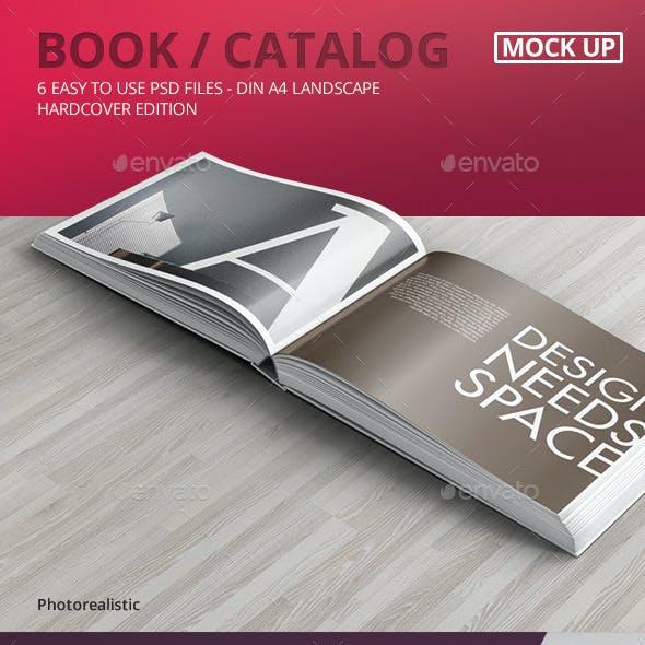 Book / Catalog Mock-Ups Hardcover Landscape