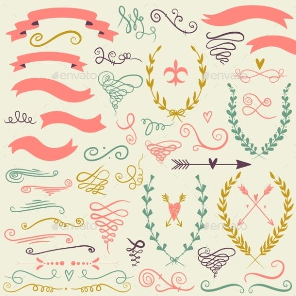 Set of Graphic Design Elements