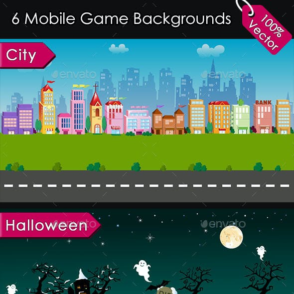6 Mobile Game Backgrounds