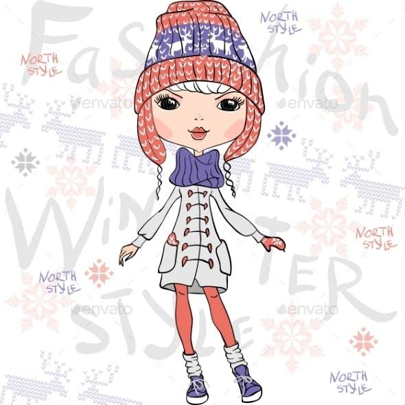 Fashion Girl in Winter