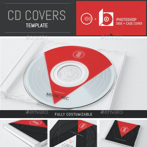 Minimal Music CD Cover Template