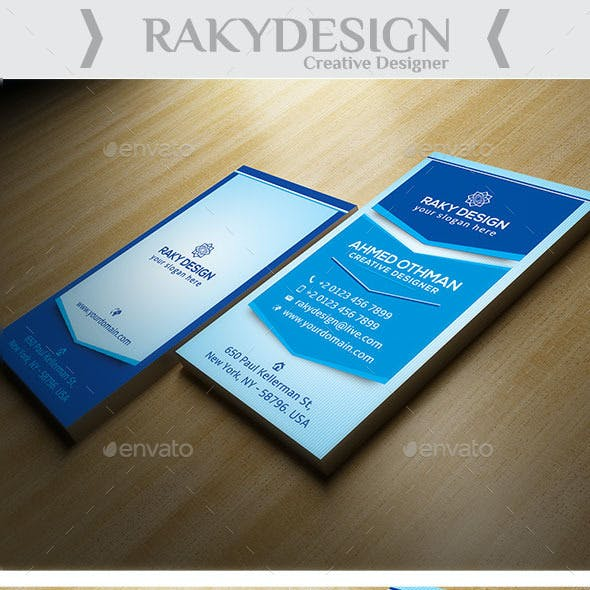 Retro Corporate Business Card
