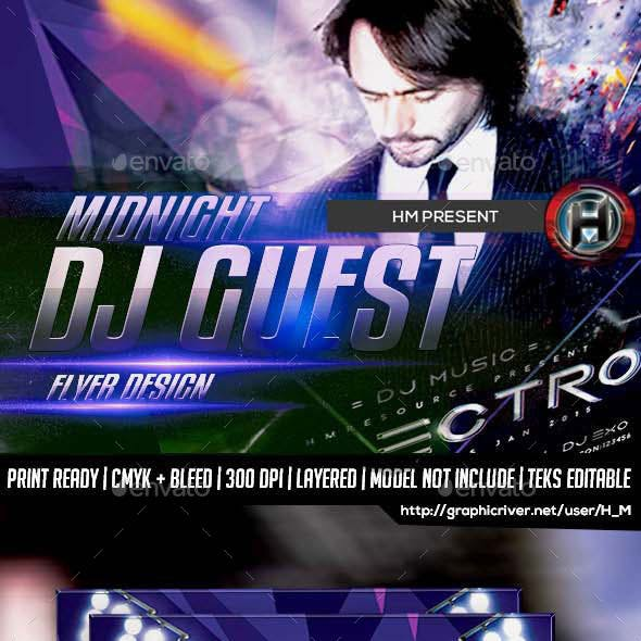 DJ ELECTRO GUEST FLYER