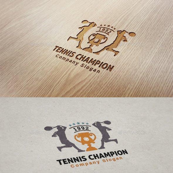 Tennis Champion Logo