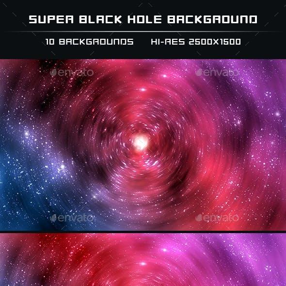 Super Black Hole Backgrounds