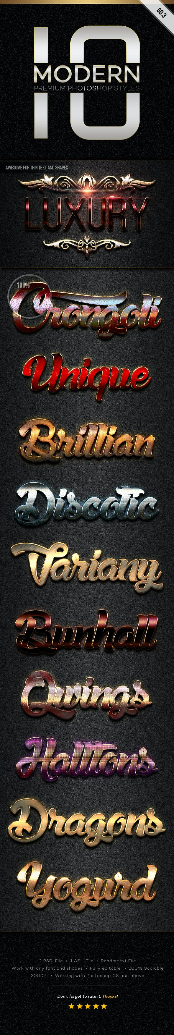 10 Modern Styles GO.3 - Text Effects Styles