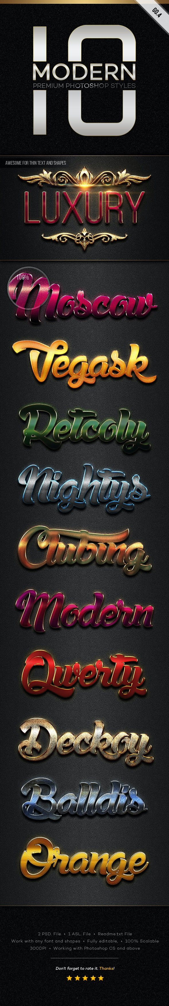 10 Modern Styles GO.4 - Text Effects Styles