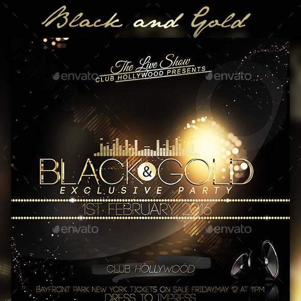 Black and Gold Flyer