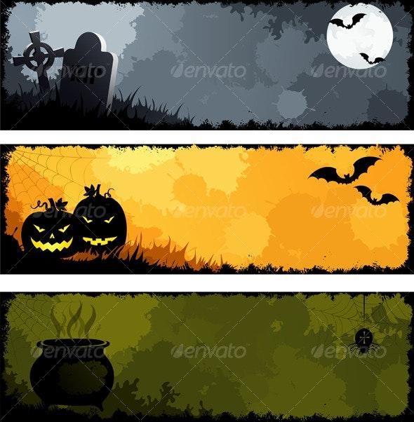 Grunge halloween banners, set 2 - Halloween Seasons/Holidays