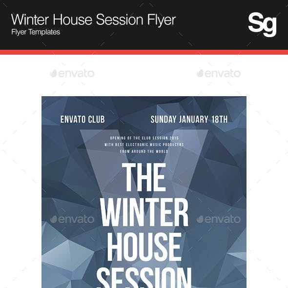 Winter House Session Flyer