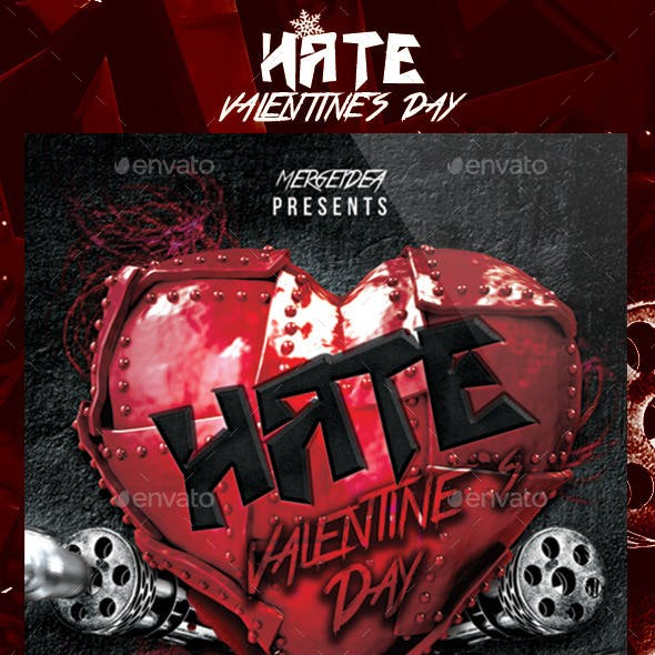 Hate Valentines Day Party Flyer