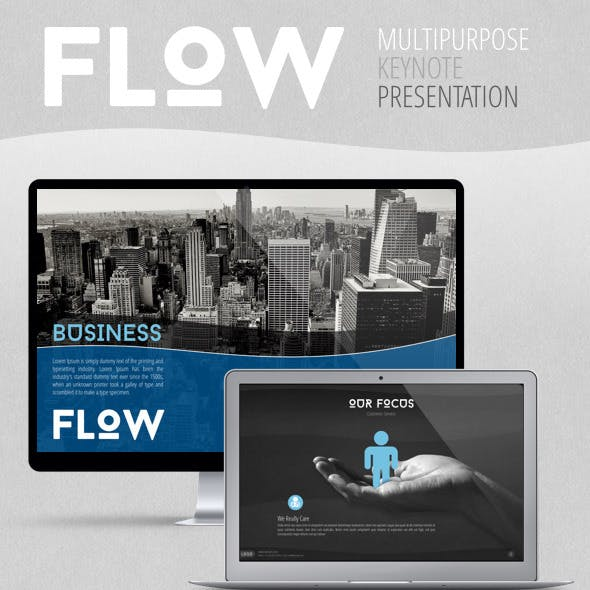 Flow multipurpose keynote template