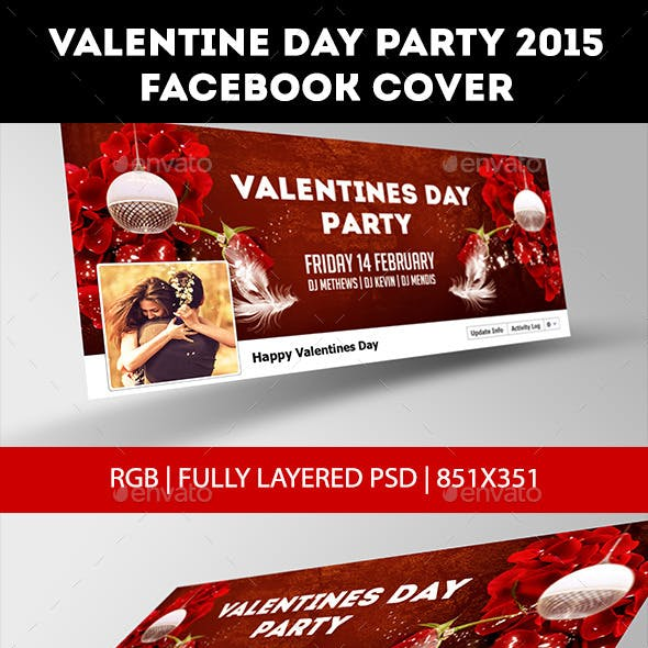 Valentine Day Party 2015 Facebook Cover