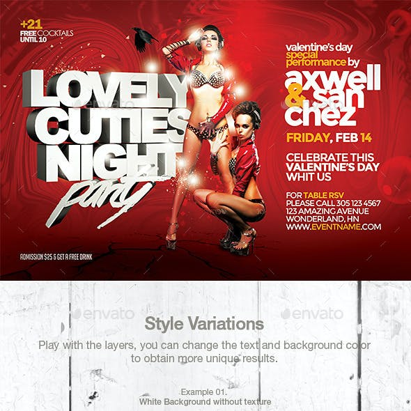 Valentine's Day Lovely Cuties Flyer Template