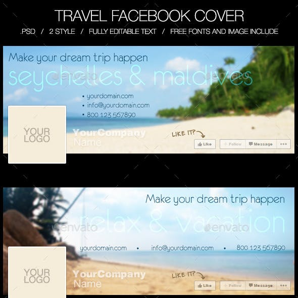 Travel & Holiday Facebook Timeline Cover