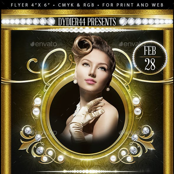 Pearls & Diamonds  (Flyer Template 4x6)