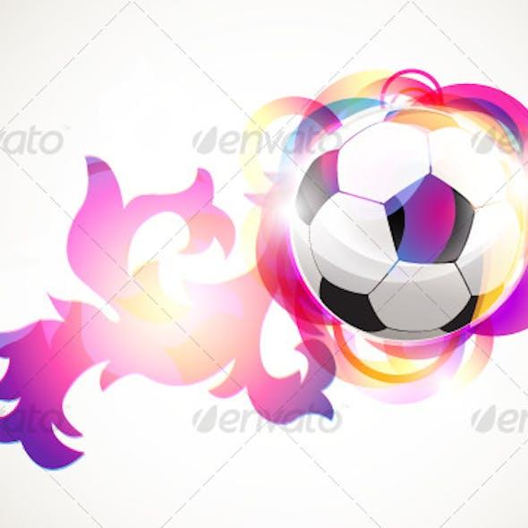 Absract football banner