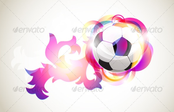 Absract football banner - Decorative Symbols Decorative