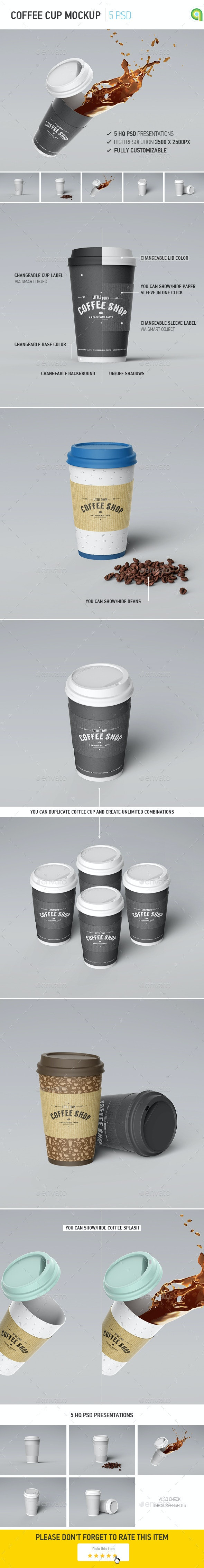 Coffee Cup Mockup - Food and Drink Packaging
