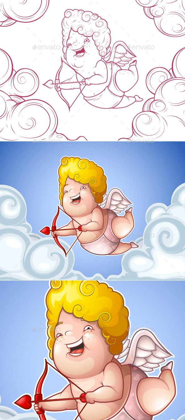 Cupid in the Clouds - Characters Vectors