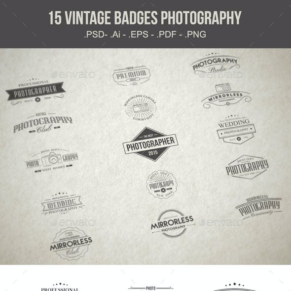 Vintage Badges Photography