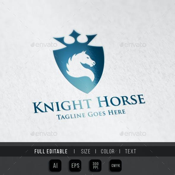 Horse Knight Shield Logo