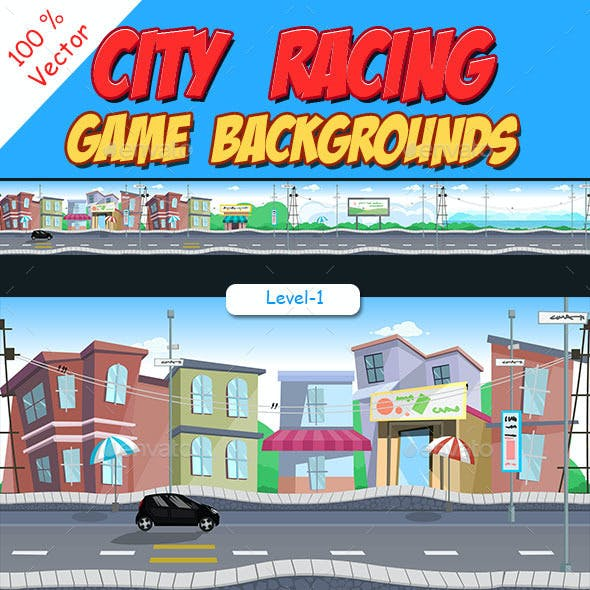City Racing Game Background