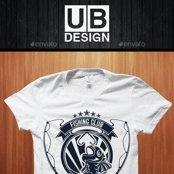 T-shirt Design for Fishing Club