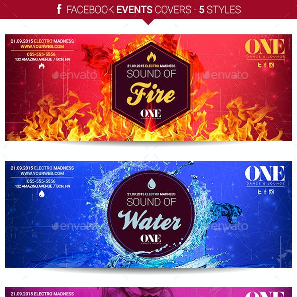 Facebook Events Covers - 5 Styles