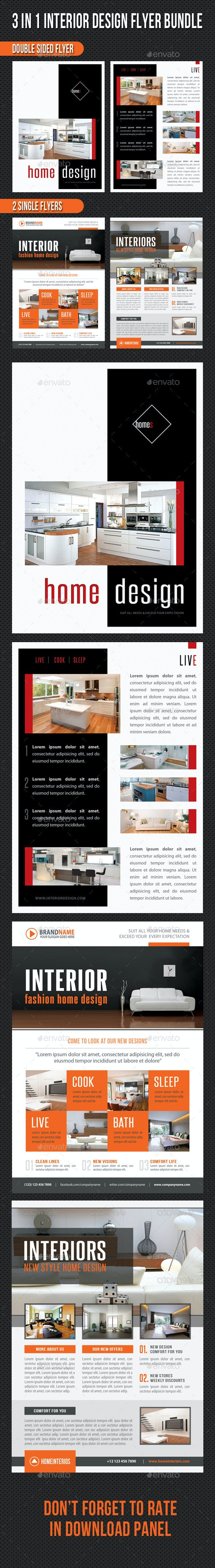 3 in 1 Interior Product Flyer Bundle 05 - Corporate Flyers