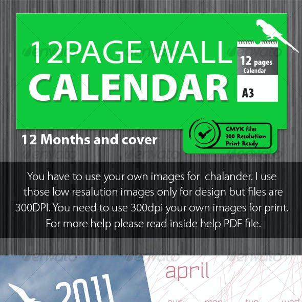 Wildlife Calendar 2011 [ 12 pages ]