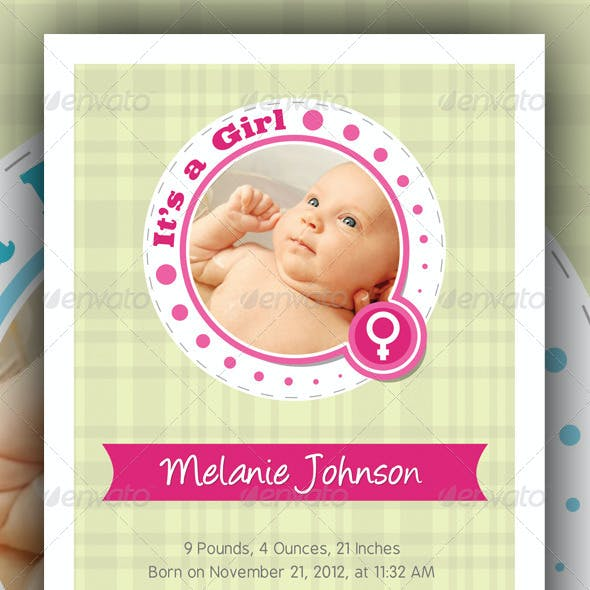 Baby Announcement Cards v2