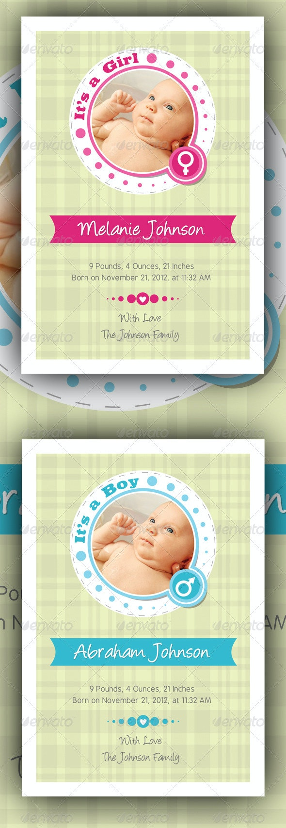 Baby Announcement Cards v2 - Family Cards & Invites
