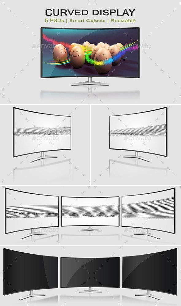 Curved Monitor Mock-Ups - Monitors Displays