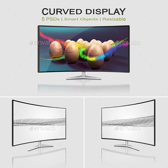 Curved Monitor Mock-Ups