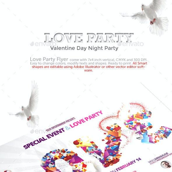 Love Party - Valentine Day Flyer