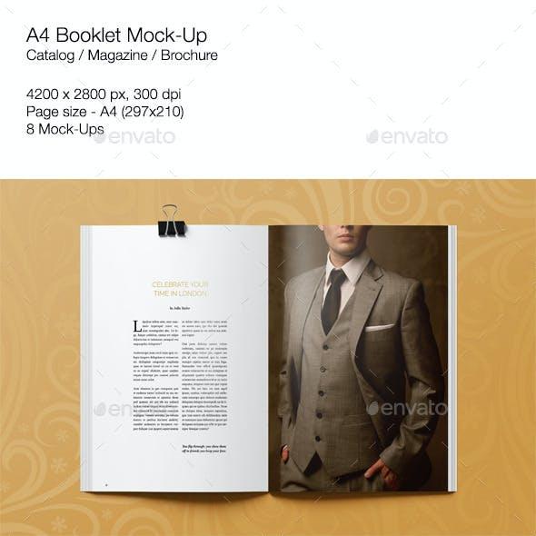 A4 Booklet Mock-Up