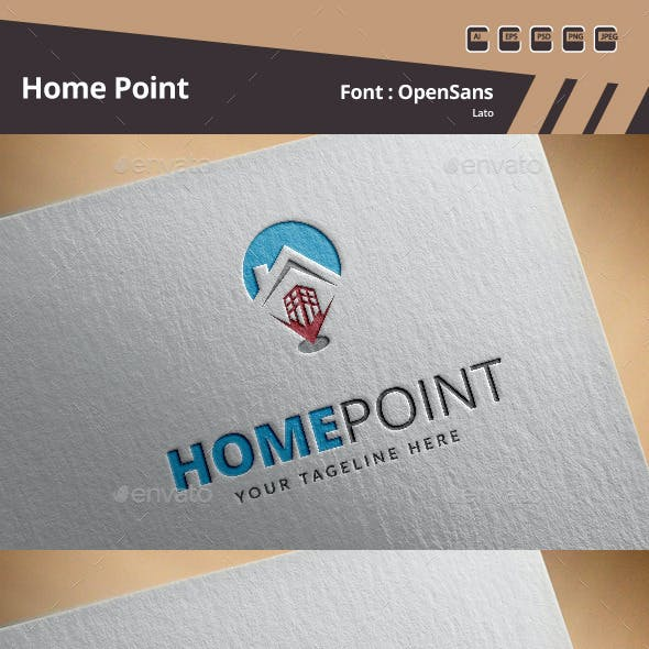 Home Point Logo Template