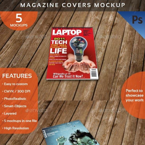 Magazine Covers Mockup