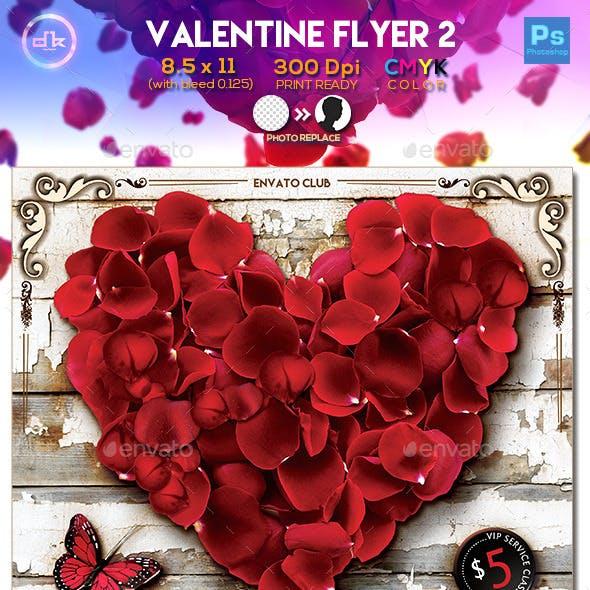Valentines Flyer 2 - Template