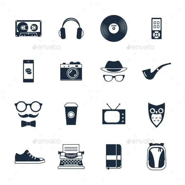 Hipster Icons Set