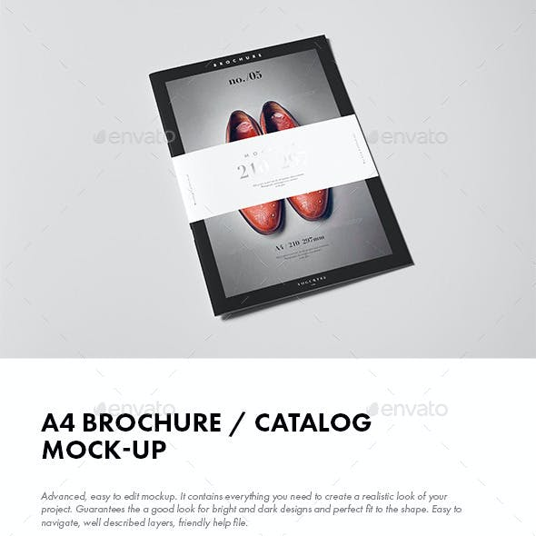A4 Brochure / Catalog / Booklet Mock-up