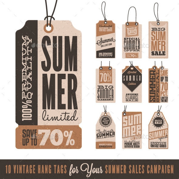 Summer Sales Related Hang Tags - Commercial / Shopping Conceptual