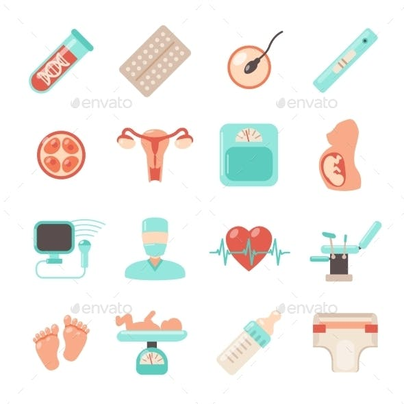 Pregnancy Newborn Icons