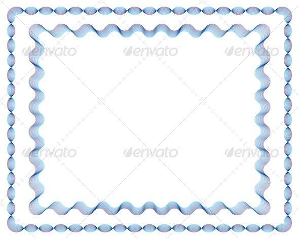Guilloche Vector Frames No.1+No.2 - Borders Decorative