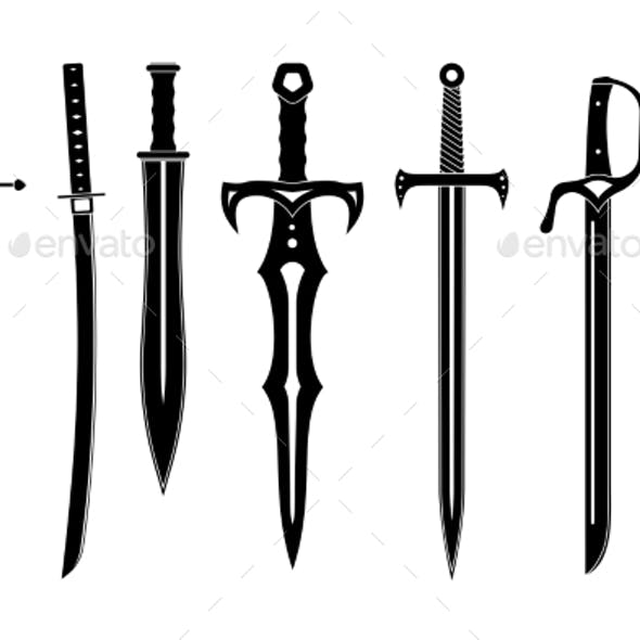 Icon Set of Ancient Swords