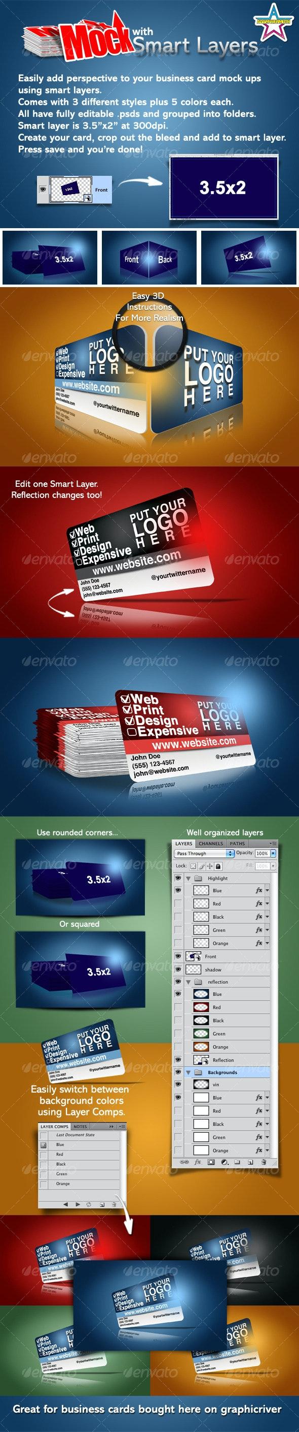 Card Mock - Business Cards Print