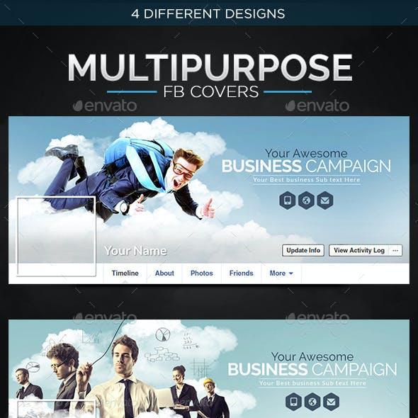 Multi Purpose Facebook Covers - 4 Designs